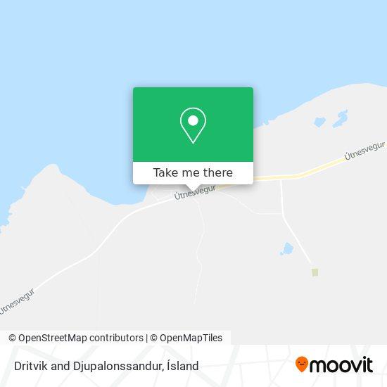 Dritvik and Djupalonssandur map