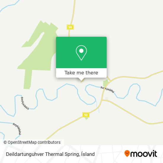 Deildartunguhver Thermal Spring map