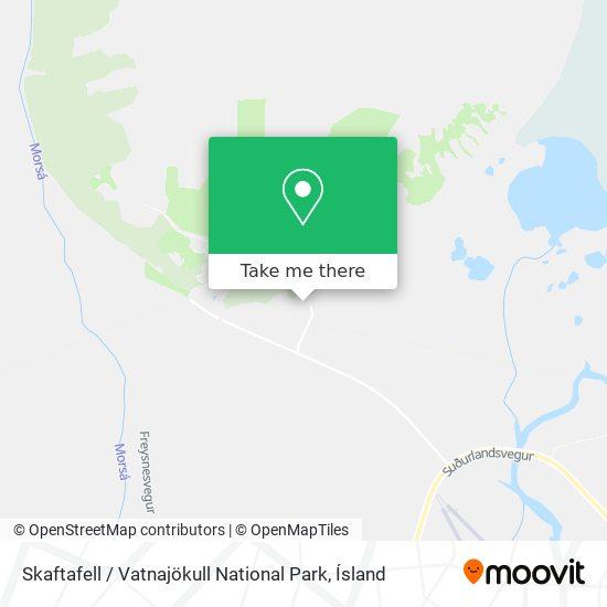 Skaftafell / Vatnajökull National Park map