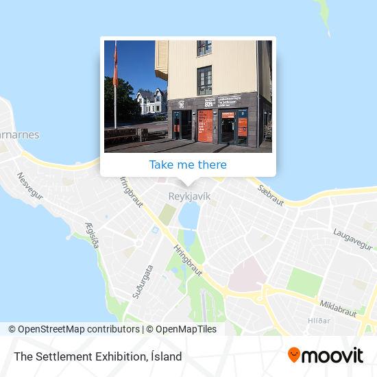 The Settlement Exhibition map
