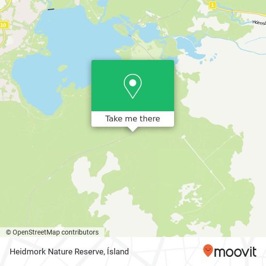 Heidmork Nature Reserve map