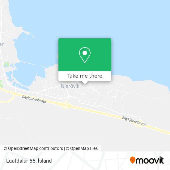 Laufdalur 55 map