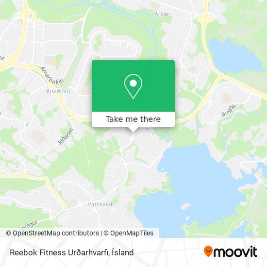 Reebok Fitness Urðarhvarfi map