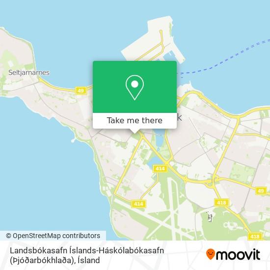 Landsbókasafn Íslands-Háskólabókasafn (Þjóðarbókhlaða) map