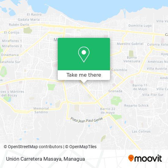 Unión Carretera Masaya map