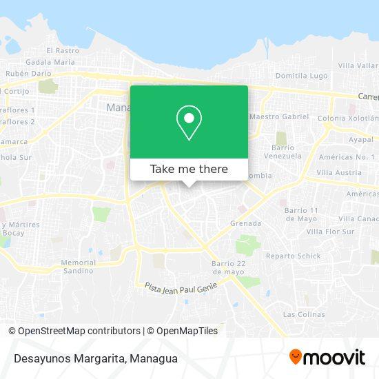 Desayunos Margarita map