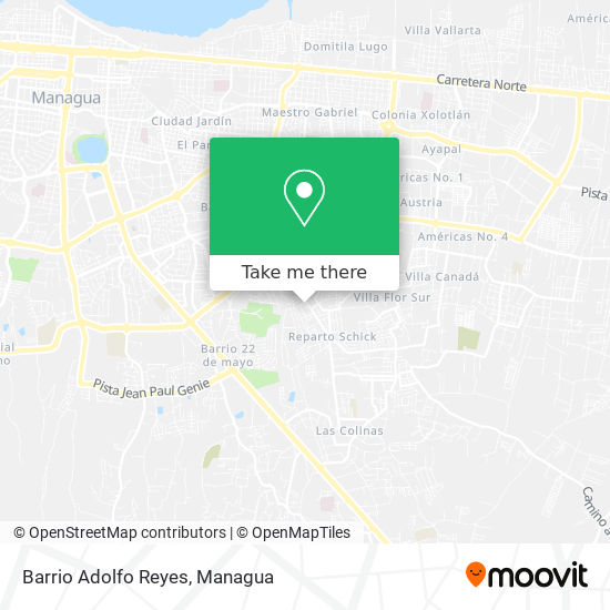 Barrio Adolfo Reyes map