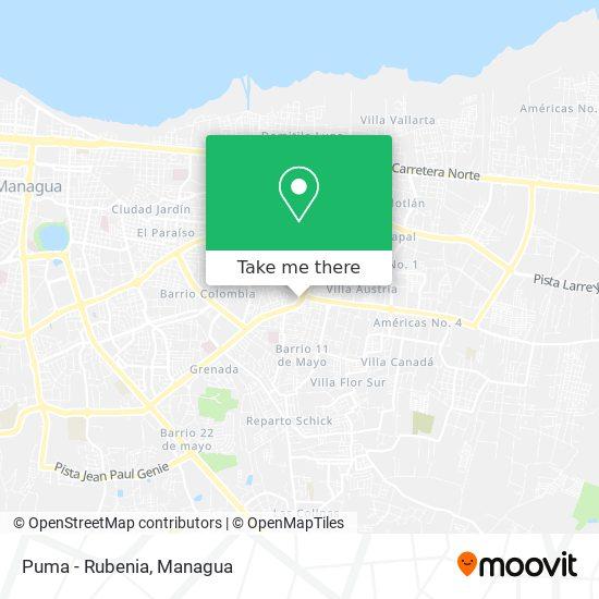 Puma - Rubenia map