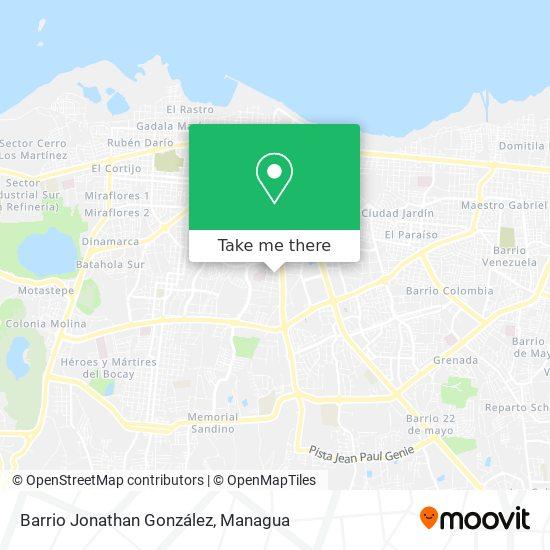 Barrio Jonathan González map
