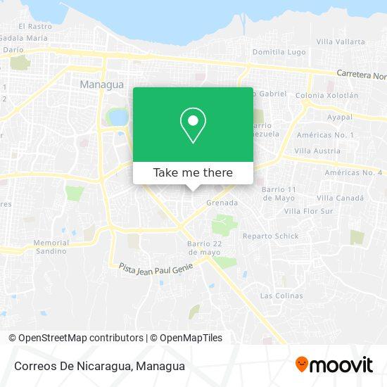 Correos De Nicaragua map