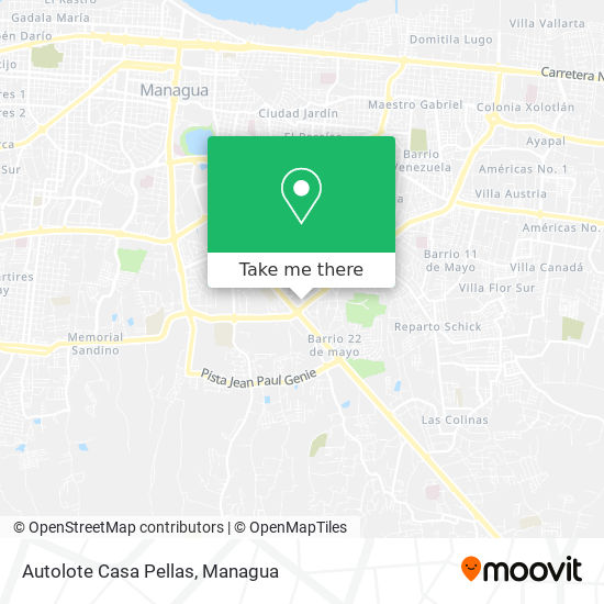 Autolote Casa Pellas map