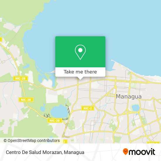 Centro De Salud Morazan map