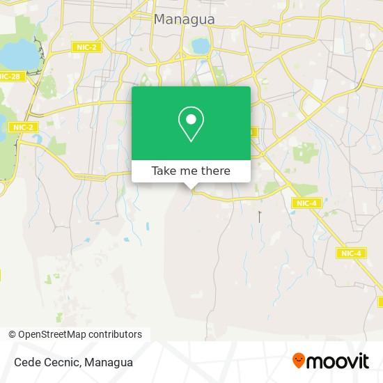 Cede Cecnic map