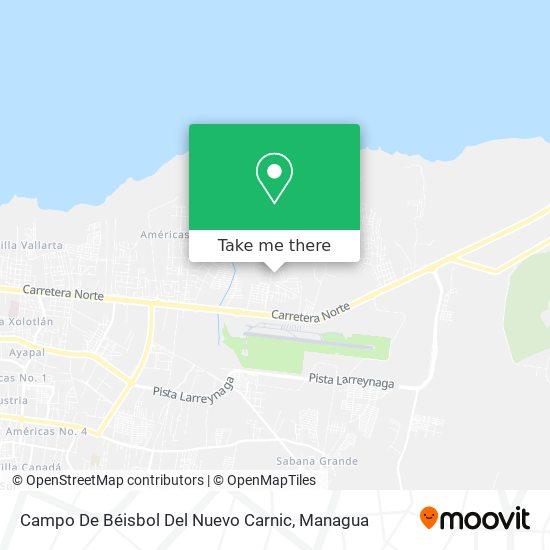 Campo De Beisbol Del Nuevo Carnic map