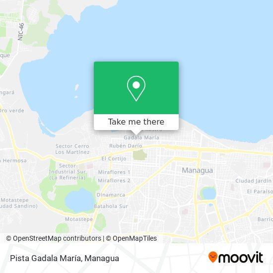 Pista Gadala María map