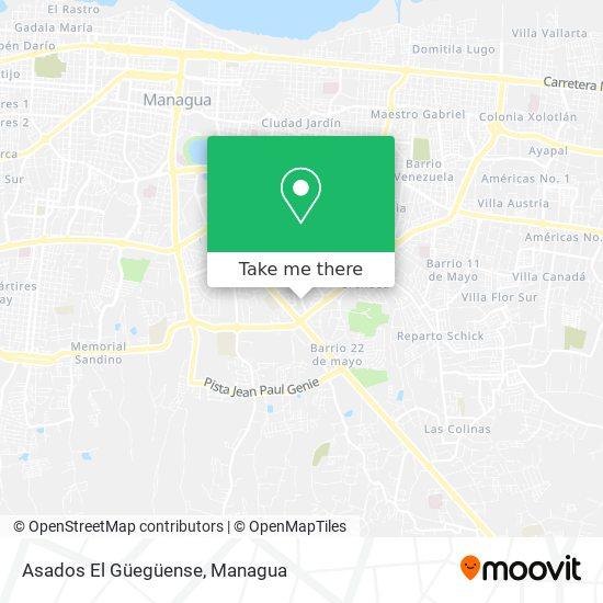 Asados El Güegüense map