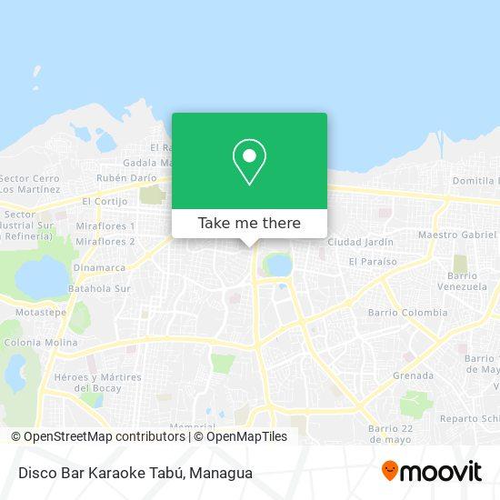 Disco Bar Karaoke Tabú map