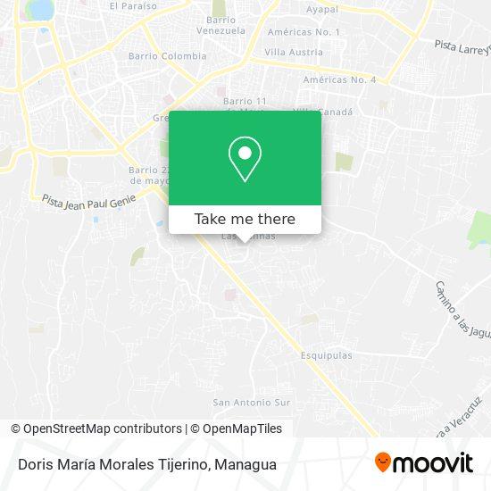 Doris Maria Morales Tijerino map