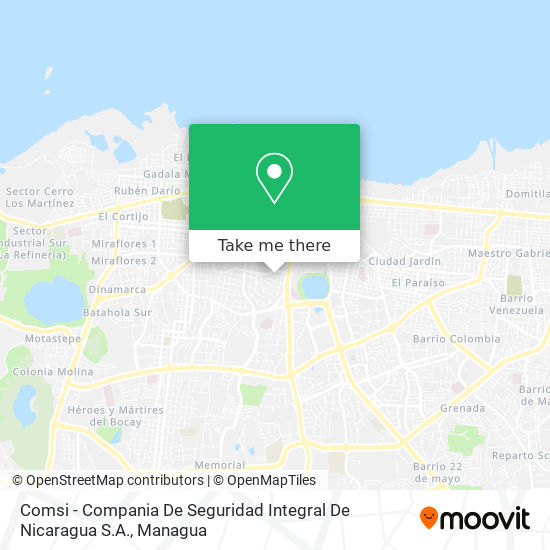 Comsi - Compania De Seguridad Integral De Nicaragua S.A. map