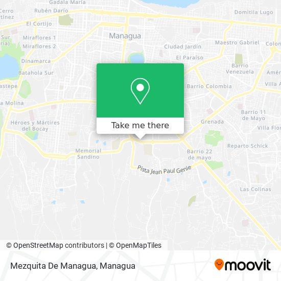 Mezquita De Managua map