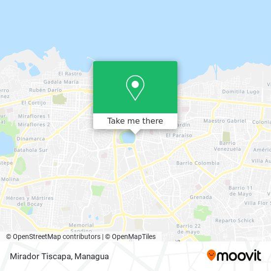 Mirador Tiscapa map