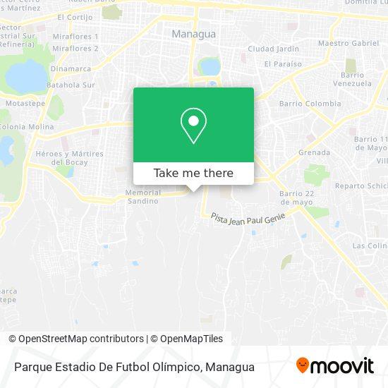 Parque Estadio De Futbol Olímpico map