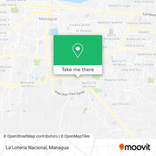 La Lotería Nacional map