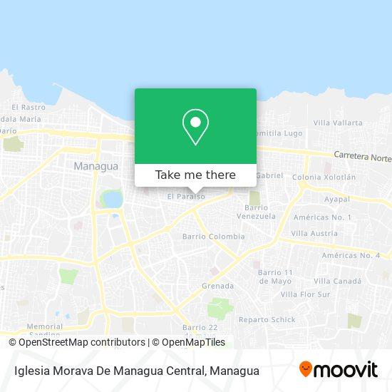 Iglesia Morava De Managua Central map