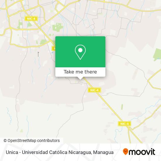 Unica - Universidad Católica Nicaragua map