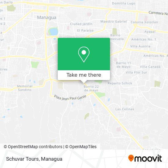 Schuvar Tours map