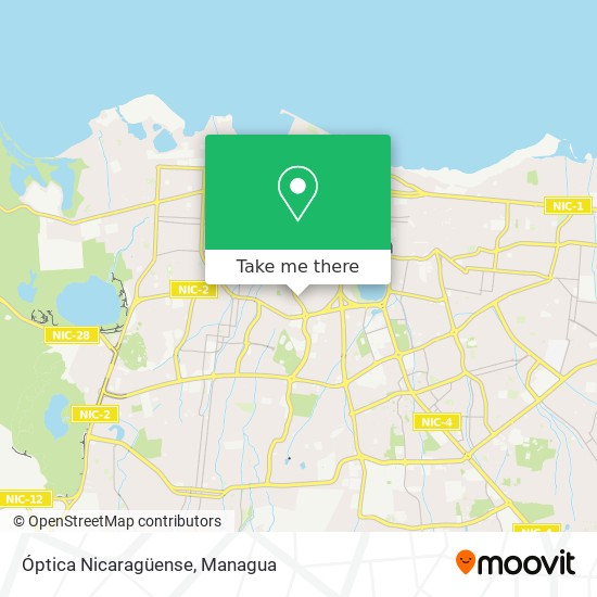 Óptica Nicaragüense map