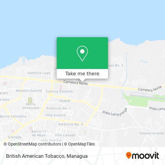British American Tobacco map