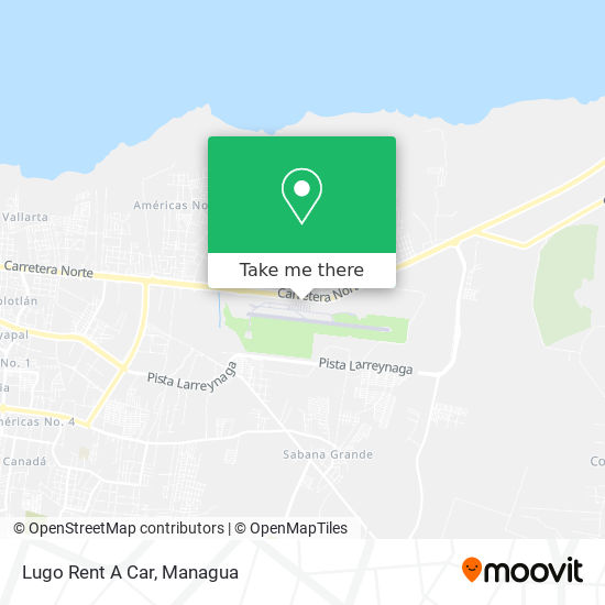 Lugo Rent A Car map