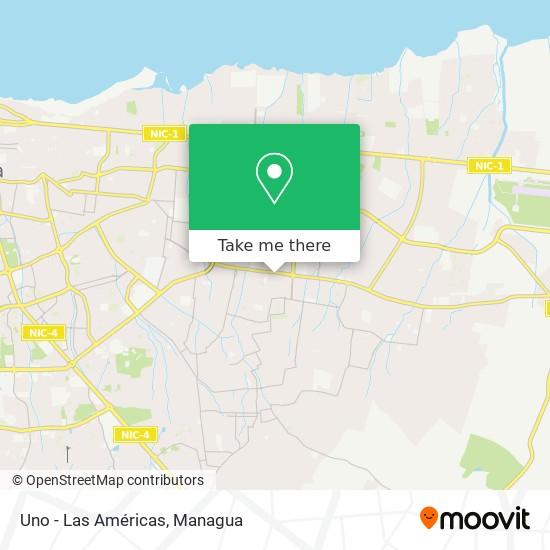 Uno - Las Américas map