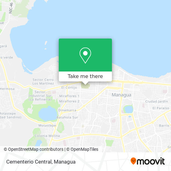 Cementerio Central map