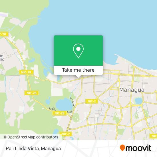 Palí Linda Vista map