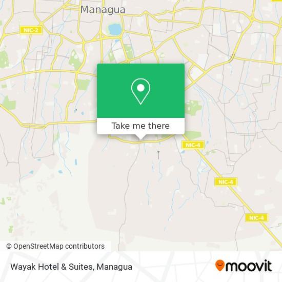 Wayak Hotel & Suites map