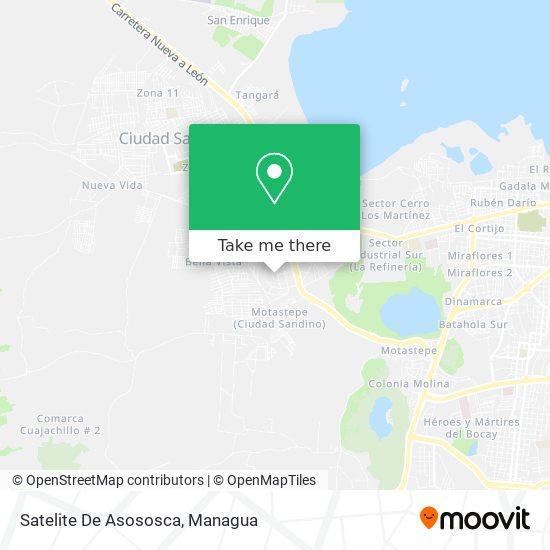Residencial Satelite Asososca map