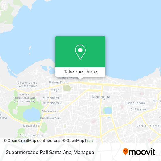 Palí Santa Ana map