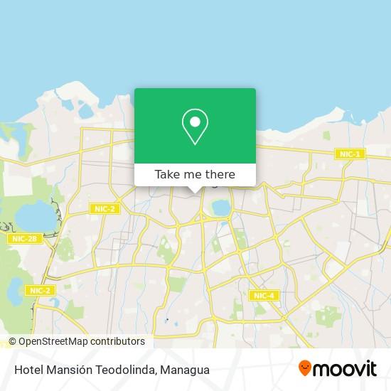 Hotel Mansión Teodolinda map