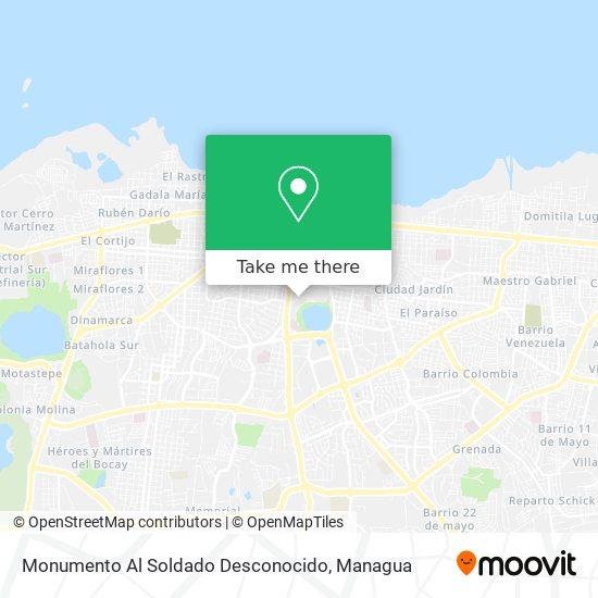 Monumento Al Soldado Desconocido map