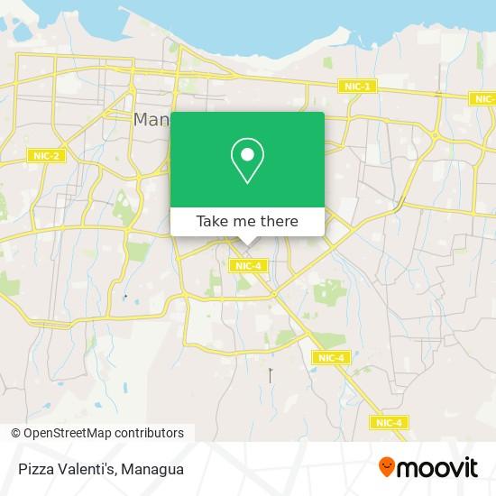 Pizza Valenti's map