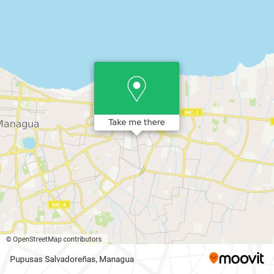 Pupusas Salvadoreñas map