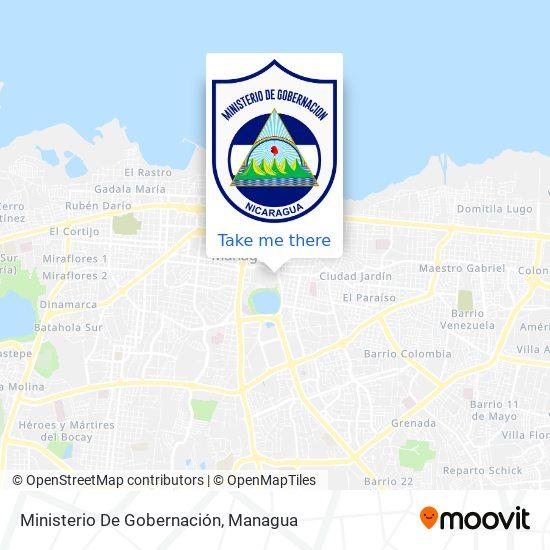 Ministerio De Gobernación map