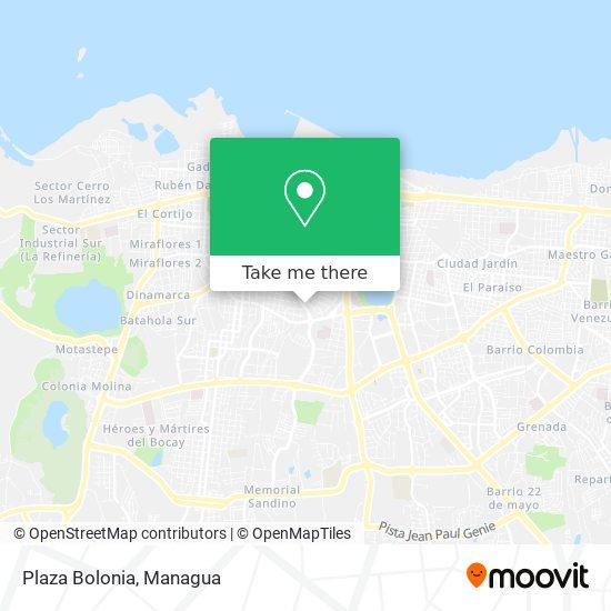 Plaza Bolonia map