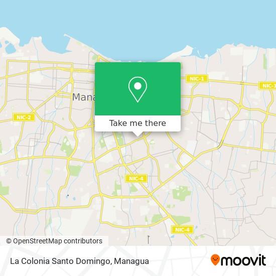 La Colonia Santo Domingo map