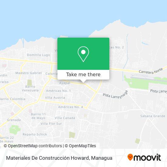 Materiales De Construcción Howard map
