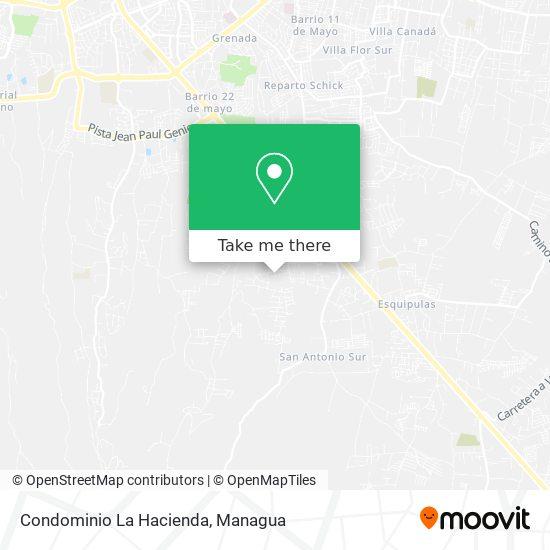 Condominio La Hacienda map