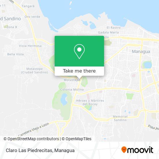 Claro Las Piedrecitas map