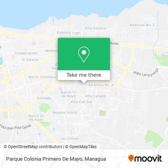 Parque Colonia Primero De Mayo map